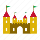 building, castle, construction, game, kids, toy icon