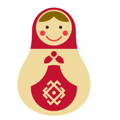 doll, game, kids, matryoshka, nesting, russian, toy icon