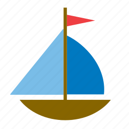 game, kids, sailboat, toy, transport, wooden icon