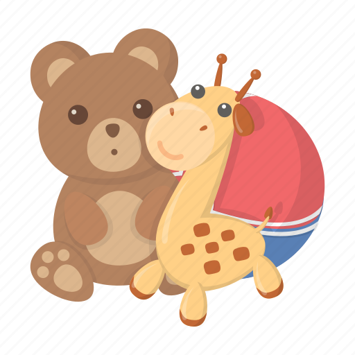 ball, bear, children, entertainment, game, giraffe, toy icon