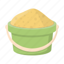 bucket, children, entertainment, game, sand, toy icon