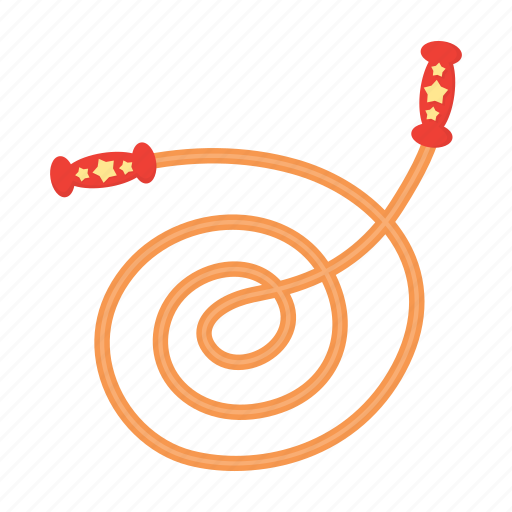 children, entertainment, game, jump, jump rope, play, toy icon