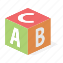 alphabet, children, cube, entertainment, game, letter, toy