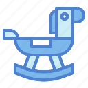 fun, horse, rocking, toy, wooden icon