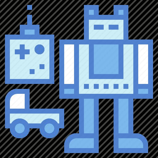 baby, car, fun, robot, toy, toys icon