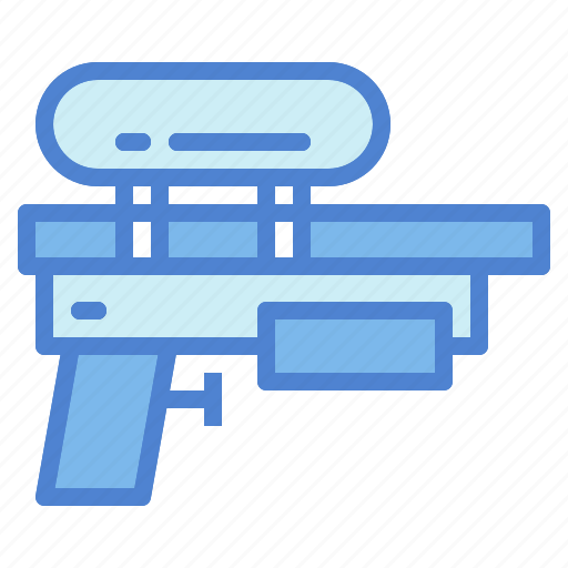 gun, holidays, summer, toy, vacations, water icon