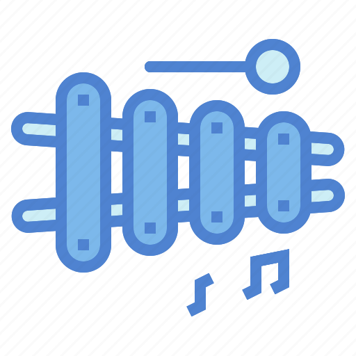 instrument, music, musical, orchestra, percussion, xylophone icon