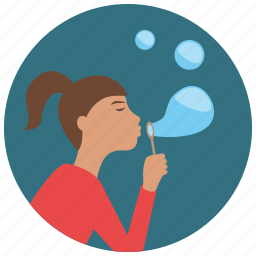 blowing, bubbles, games, toys icon