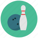 ball, bowling, games, pin, toys icon