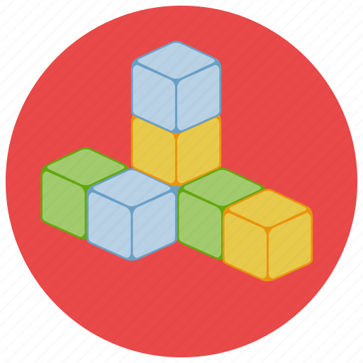 blocks, building, games, toys icon