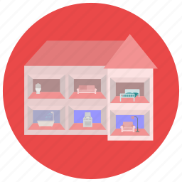 doll, games, house, toys icon