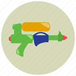 games, gun, toys, water icon