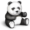 teddy, bear, toy, panda icon