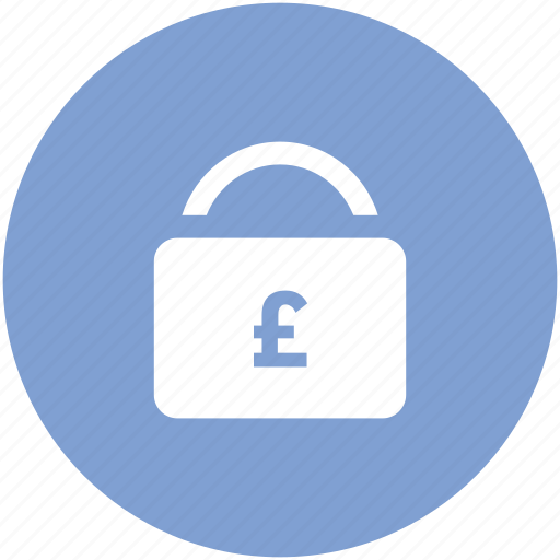 account, business, funds, lock, pound, pound lock, transaction icon