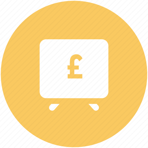 currency, finance, money, online earning, pound, presentation, screen icon