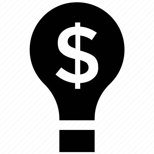 bulb, business concept, business ideas, creativity, dollar sign, energy, inspiration icon
