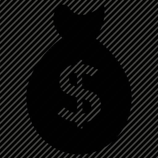 dollar bag, dollar pouch, dollar sack, dollar sign, investment, money bag, saving icon