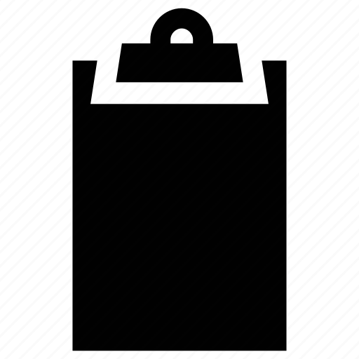 clipboard, file holder, office supplies, paper binder, school supplies icon