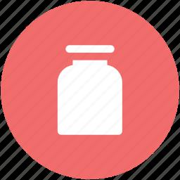 bottle, drugs, lab jar, medicine bottle, medicine jar, pills, syrup icon