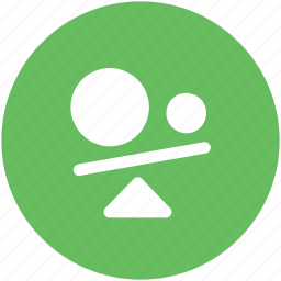 balance, balance swing, business, seesaw, seesaw balance icon