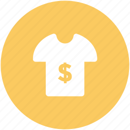 clothes, dollar shirt, garment, half sleeves, shirt, sports wear, tee icon