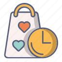 bag, delivery, in time, shop, track icon