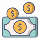 cash, coin, dollar, money, payment icon