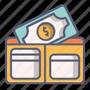 bag, cash, money, pocket, purse, wallet