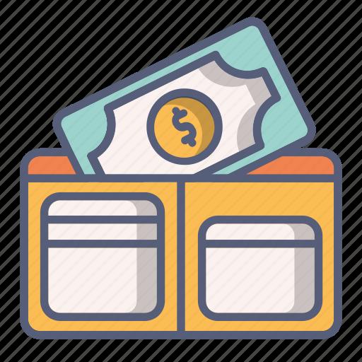 bag, cash, money, pocket, purse, wallet icon