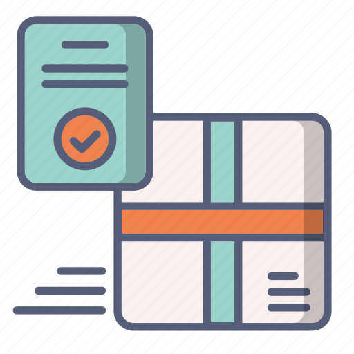 approved, check, delivery, package, shop, tip icon