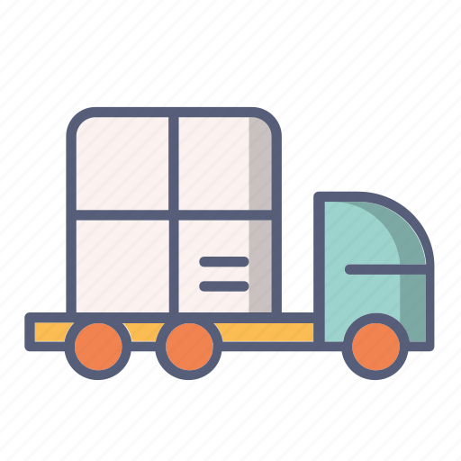 car, delivery, goods, package, post, shopping icon
