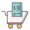 cart, check, money, payment, shop, tip icon