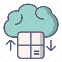 cloud, data, download, downloading, information, shopping icon