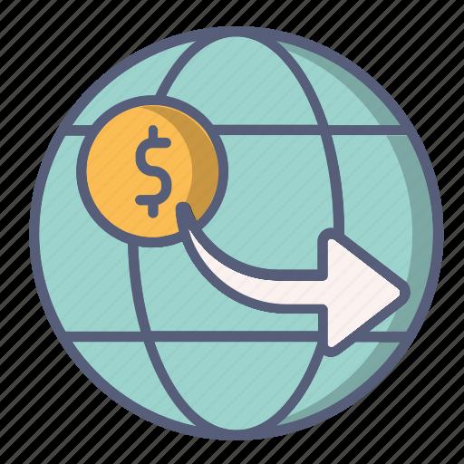 cash, internet, online, payment, shop, world icon