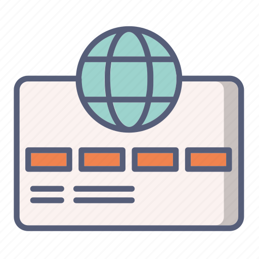 bank, card, credit, international, money, payment icon