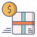 buy, delivery, goods, money, paid, payment icon
