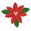 christmas, flower, holly, leaf, mistletoe icon