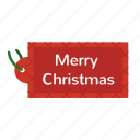 christmas, merry christmas, tag icon