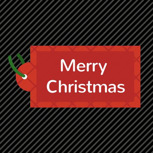 christmas, merry christmas, tag icon