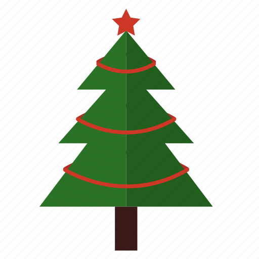 Christmas Tree Facebook Icon: Christmas, Simple Christmas Tree, Tree Icon