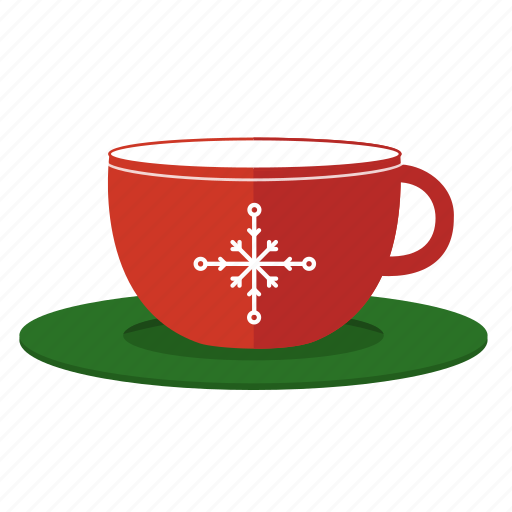 christmas, cup, cup and saucer, hot chocolate icon