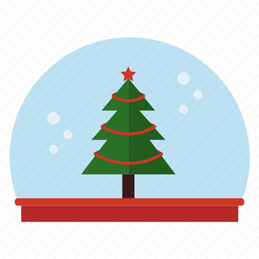christmas tree, globe, snow icon