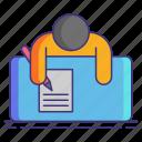 handwritten, notes, writing icon