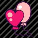 balloon, celebration, decoration, heart, holiday, party icon