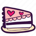 food, dessert, wedding, cafe, sweet, piece, cake icon