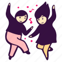 disco, couple, dance, wedding, music, celebration, party icon