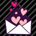 envelope, heart, invitation, like, mail, message, valentine icon