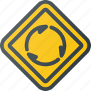 atentioncircular, intersection, road, sign, traffic icon