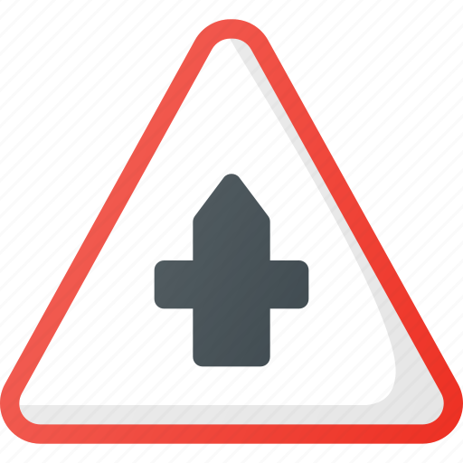 Ahead, atention, crossroad, road, sign, traffic icon - Download on Iconfinder