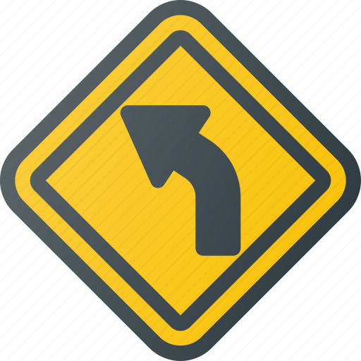 Atention, curve, road, sign, traffic icon - Download on Iconfinder
